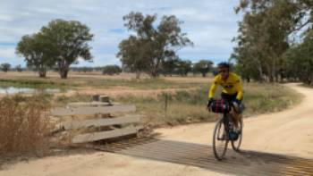 Crossing a small bridge on the route between Mendooran and Dunedoo | Michele Eckersley