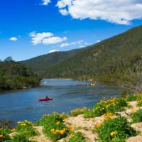 Kayak in stunning isolation along the Snowy River