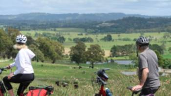 Cyclists taking in the view between Bowral and Robertson   Kate Baker