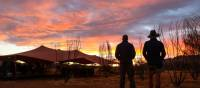 Enjoying a sunset on the Larapinta trail   #cathyfinchphotography