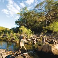 Trekkers follow Barramundi Creek in Kakadu   Aran Price