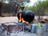 Views of the fire pit at  Charlie's campsite |  <i>Guy Wilkinson</i>