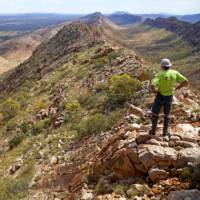 Walker enjoying view from Counts Point | Andrew Bain