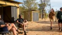 Trekkers relaxing on the porch of their campsites |  <i>Shaana McNaught</i>
