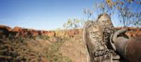 Foot rest on the Larapinta trail, Northern Territory | Paddy Pallin