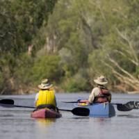 Canoeing on the tropical Katherine River | Mick Jerram