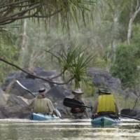 Pandanus trees shade the tropical Katherine River | Mick Jerram