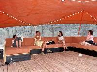The Larapinta Camps include a comfortable lounge where trekkers can relax after a day on the trail |  <i>Sue Badyari</i>