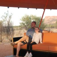 The Larapinta Semi-Permanent camps have a stunning lounge with great views over the Ranges | Chris Buykx