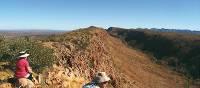 Trekkers rest at Counts Point, Larapinta Trail | Liz Rogan