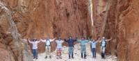 A team photo on the Larapinta Trail   Latonia Crockett