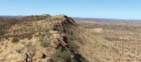 Walking along the rugged ridges of the West MacDonnell Ranges on the Larapinta Trail | Ayla Rowe