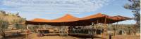 The Larapinta Camps canopies offer great shade under the outback skies |  <i>Brett Boardman</i>