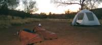 Sleeping in swags on the Larapinta Trek   LIz Rogan