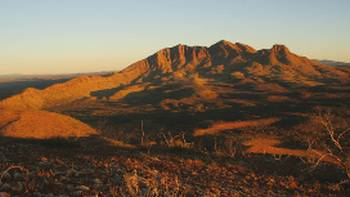 Mount Sonder from the lookout on Stage 11 of the Larapinta trail. | Darren Schiller