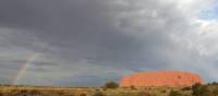 Rainbow over Uluru. | Ayla Rowe