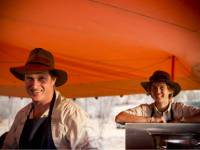 World Expeditions guides at work in the kitchen of the Larapinta semi-permanent campsites |  <i>Brett Boardman</i>