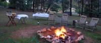 A campfire awaits trekkers on the Arkaba Walk