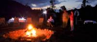 A warm campfire and a comfortable seat greets trekkers on the Arkaba Walk