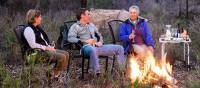 Relaxing by the campfire during the evenings on the Murray River Walk