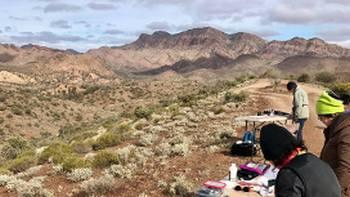 Capture the magnificent landscape of Flinders Ranges on canvas
