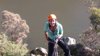Rock climbing in Cataract Gorge, near Launceston