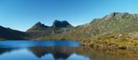 Cradle Mountain is prefectly reflected in Dove Lake, Tasmania