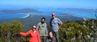 Group on Mt Maria, highest peak on Maria Island | Brian Dodson