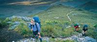 Hiker stops to rest on the South Coast Track |  <i>Don Fuchs</i>