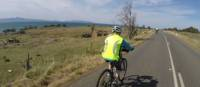 Cycling towards Triabunna along the east coast   Brad Atwal