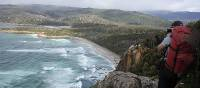 Looking towards South Cape Rivulet from the high clifftops down the coast   | Phil Wyndham
