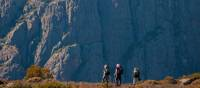 Trekkers in the Walls of Jerusalem National Park walking towards Mt Jerusalem | Don Fuchs