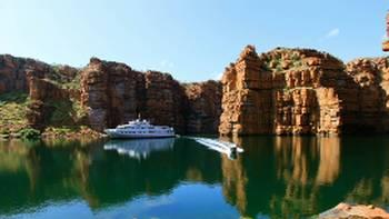 Cruising by the stunning Kimberley coastline