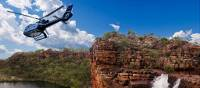 Helicopter over Eagle Falls in the Kimberley