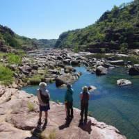 Admiring the fresh water streams of the Kimberleys coastal region, Western Australia   Tim Macartney-Snape