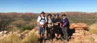 "Team ""Grumpy"" on the Larapinta Trail for the Macular Disease Foundation Australia 