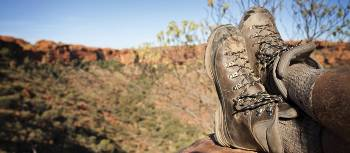 Foot rest on the Larapinta trail, Northern Territory