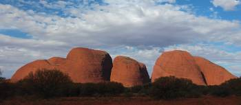 Viewing The Olgas from the distance. | Ayla Rowe