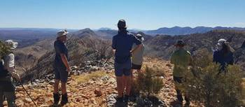 Taking in the views on the Larapinta Trail | Shelby Vino
