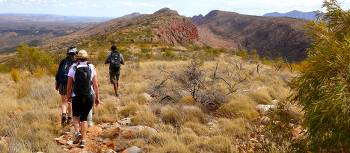Walkers on the Larapinta Trail